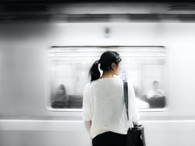 Woman waiting metro