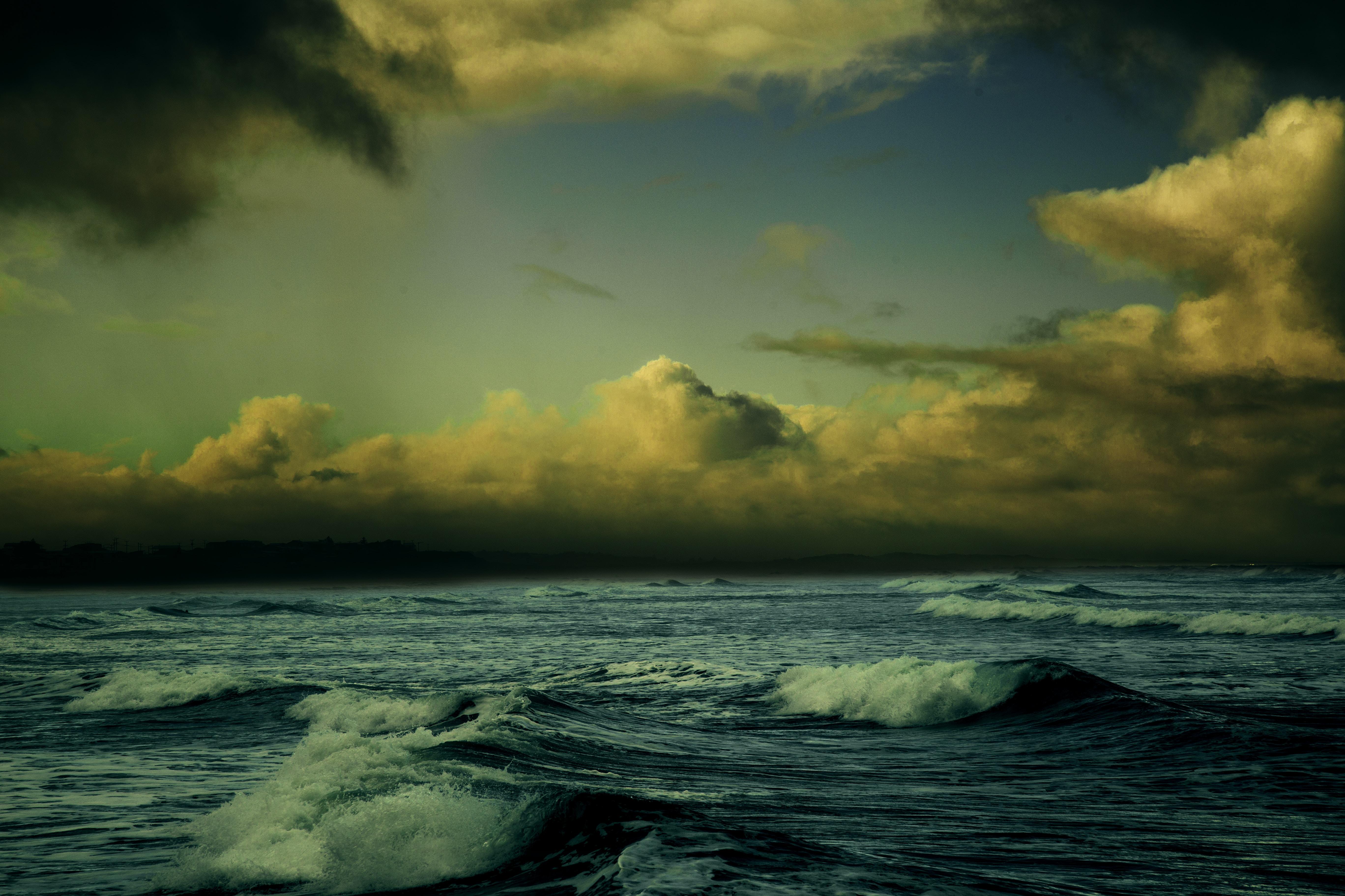 clear sky over ocean
