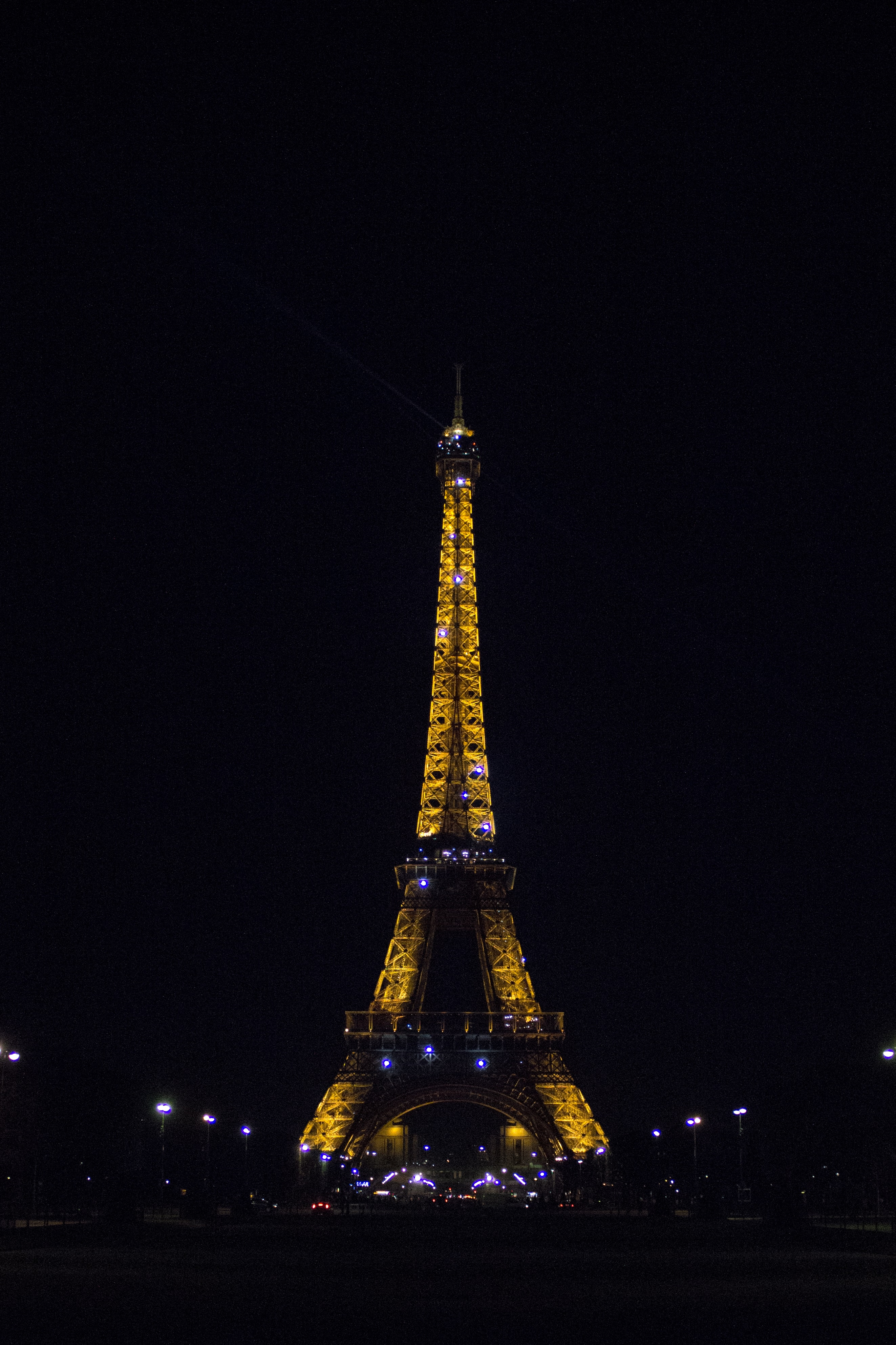 Eiffel Tower during nighttime