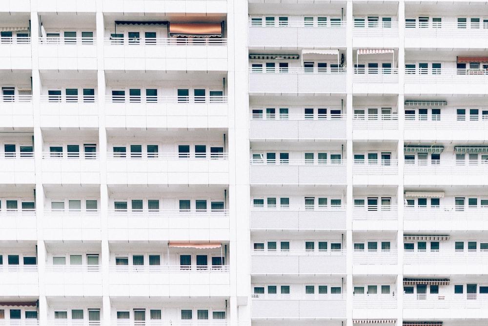 landscape photo of building windows