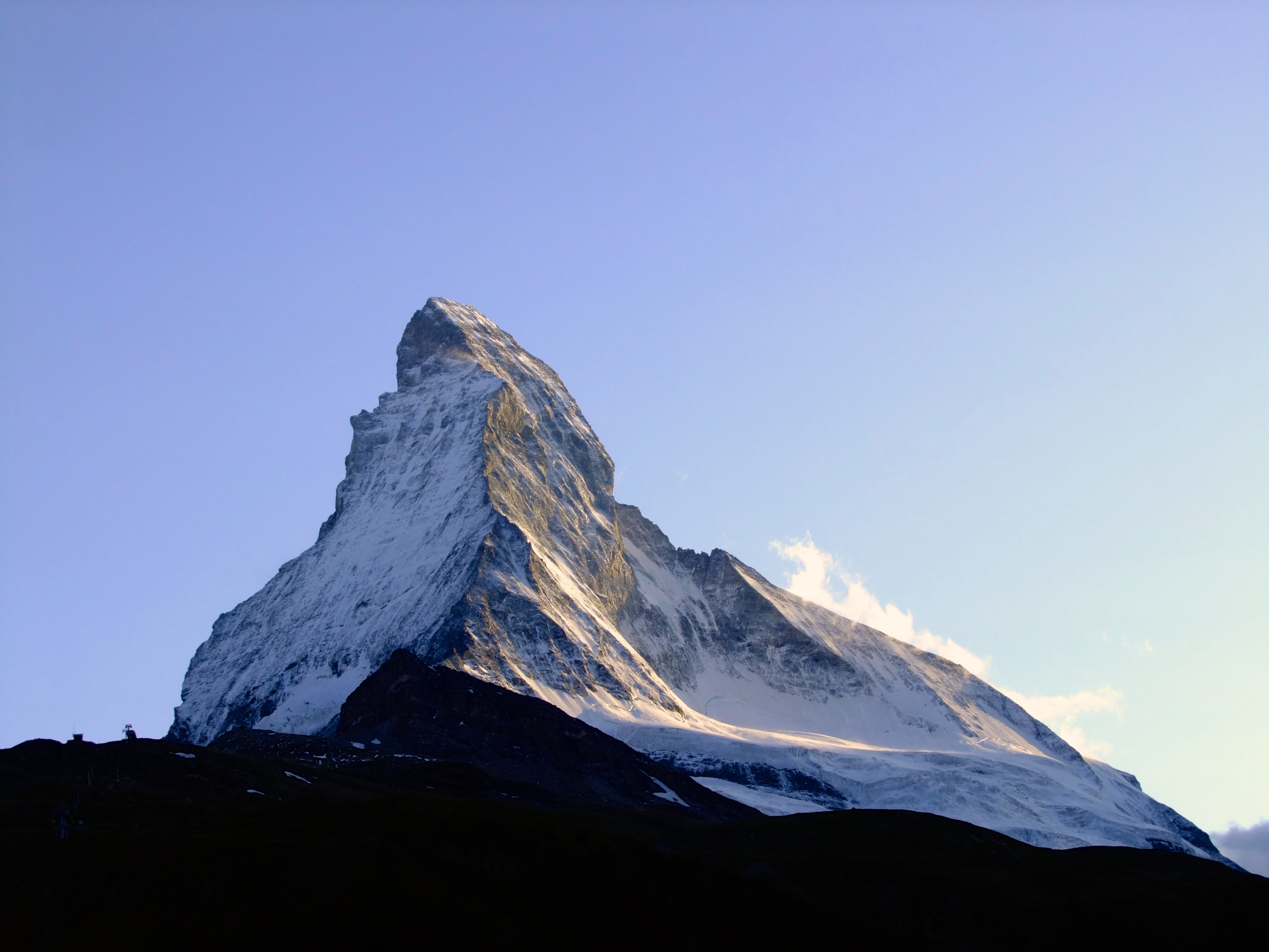 The peak of a mountain in the Swiss Alps