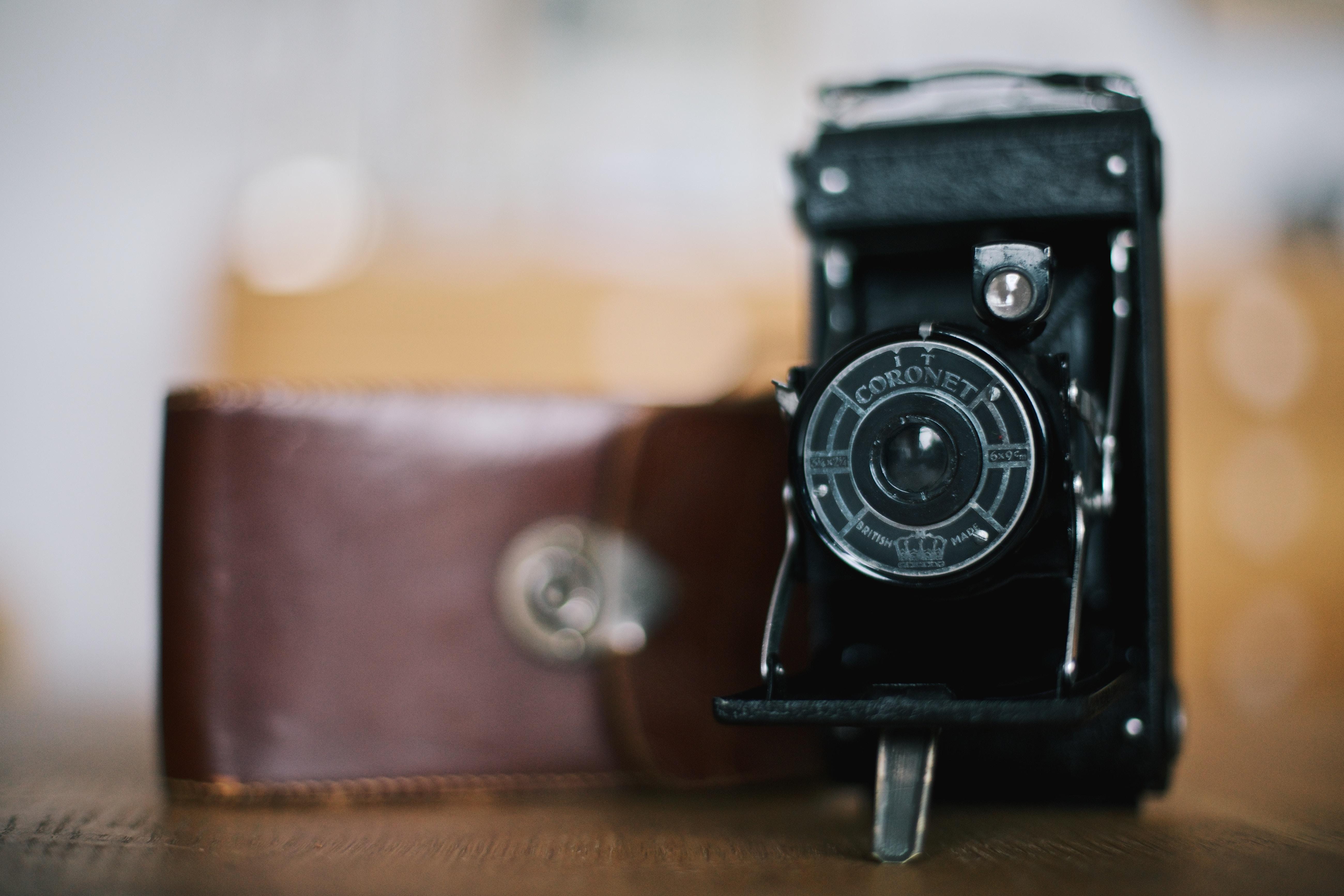 selective focus photo of camera