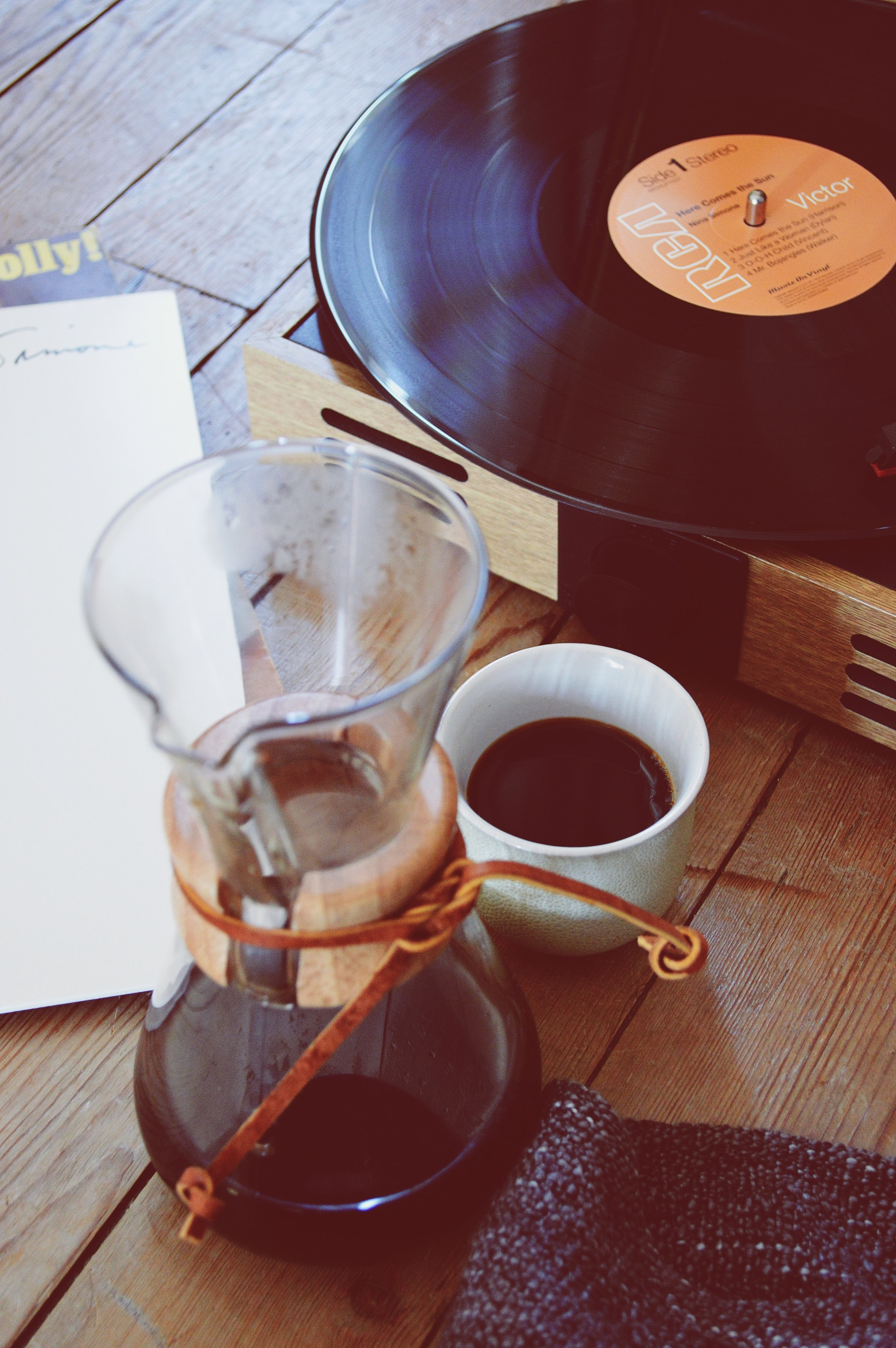 Coffee Record Music And Vinyl Record Hd Photo By Andrei