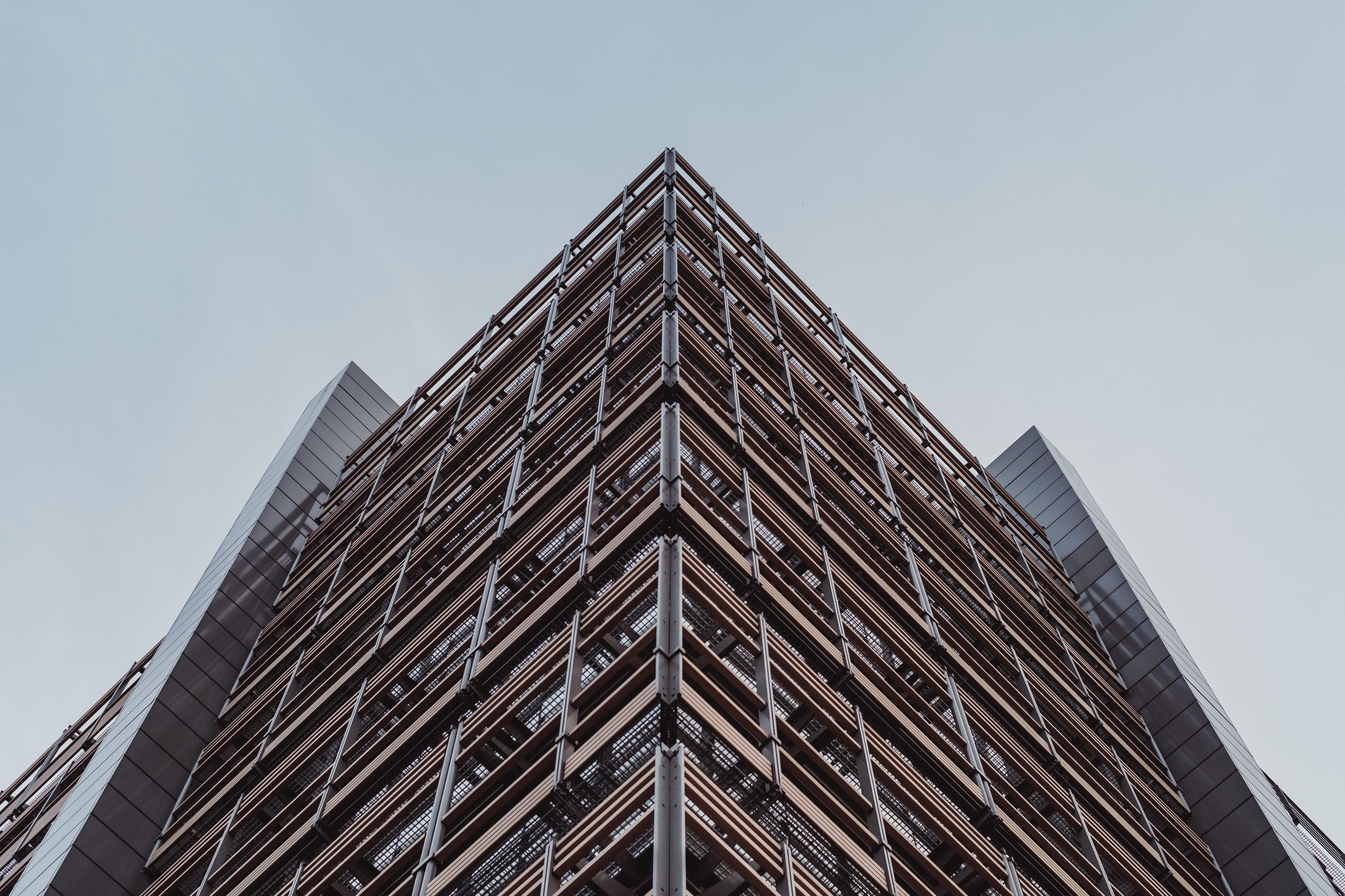 A rough office building facade in London