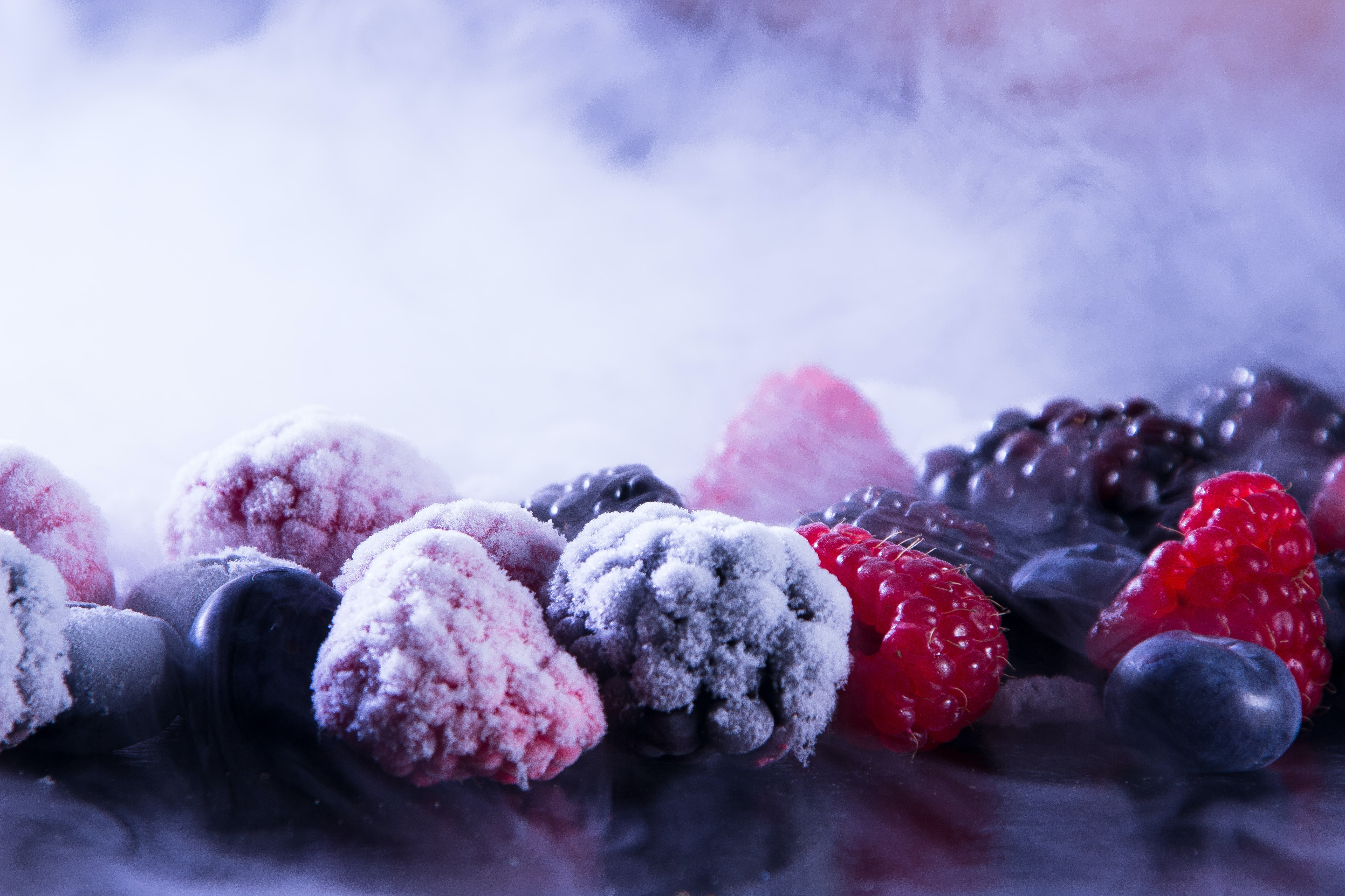 frozen blueberries, raspberries, and blackberries