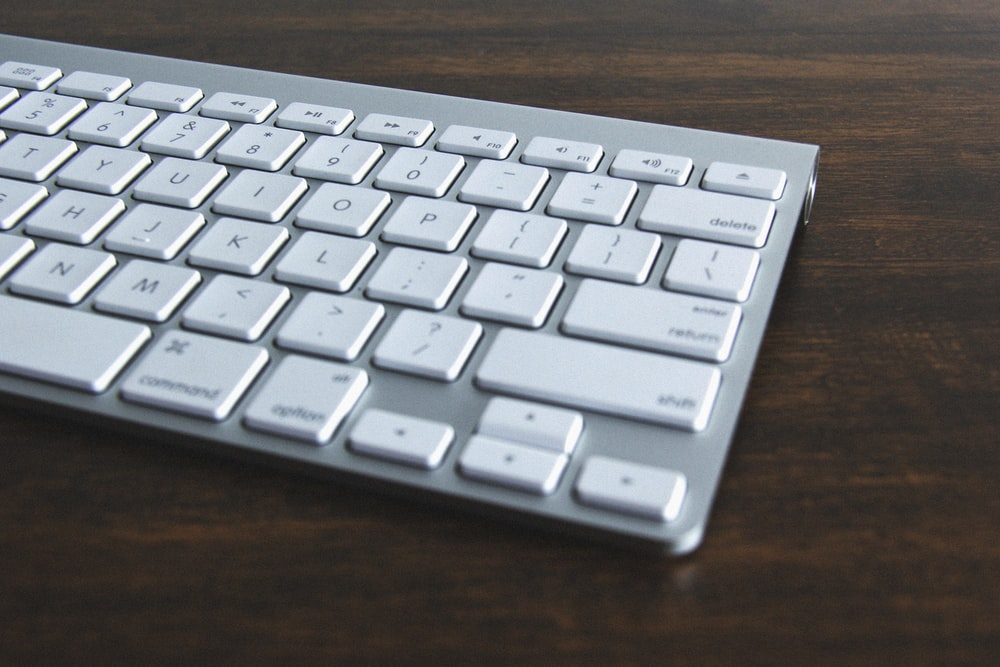 silver and white computer keyboard