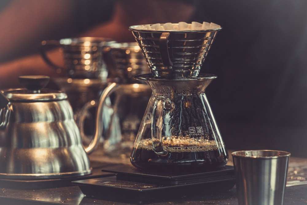 clear glass coffee filter