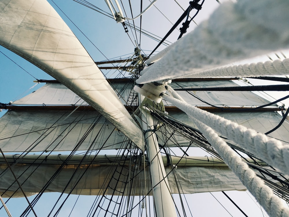 white and gray galleon ship part during daytime