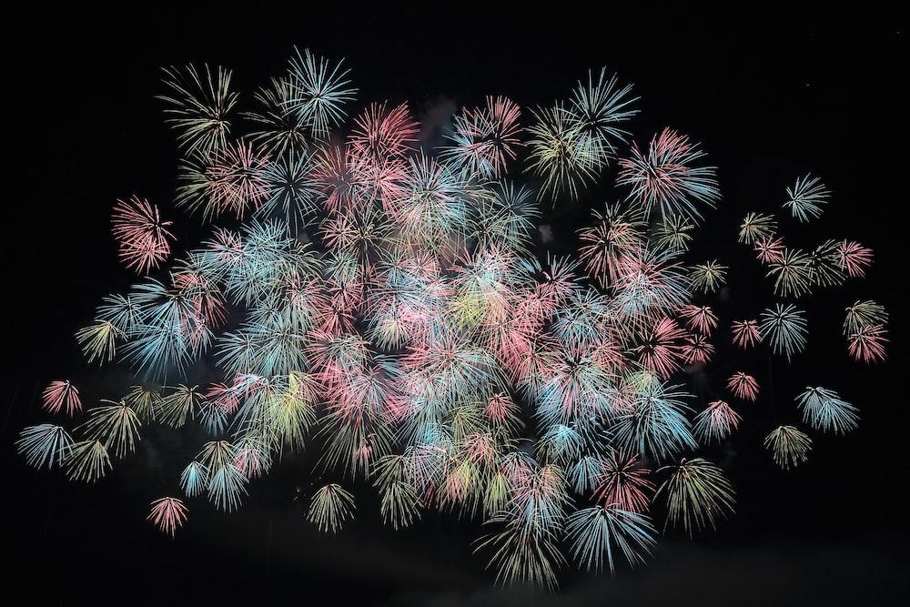 assorted-color fireworks lot