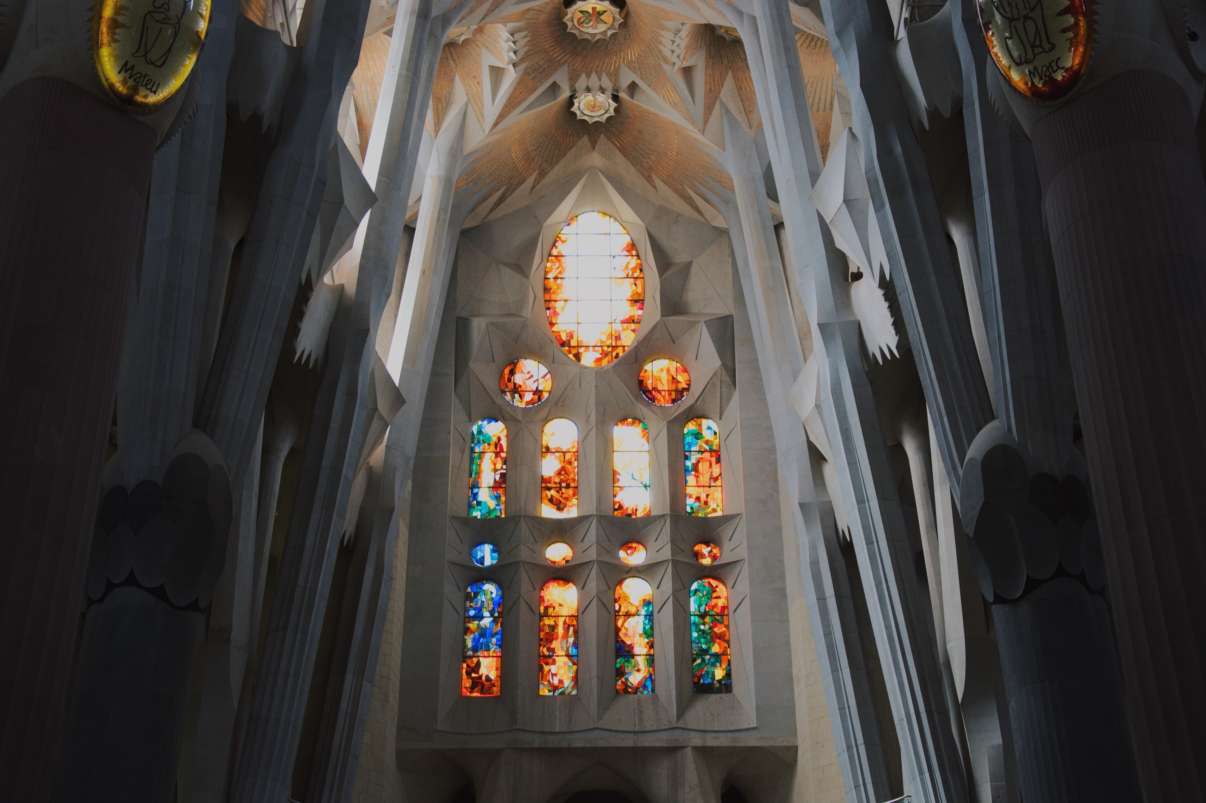 cathedral with stained glass decor