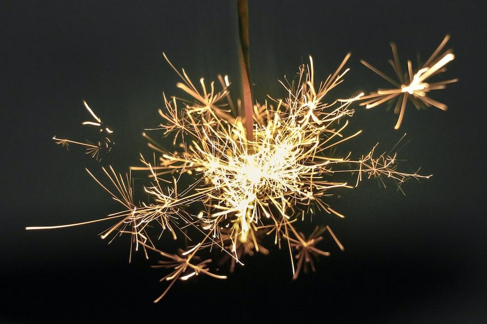 black sparkle stick