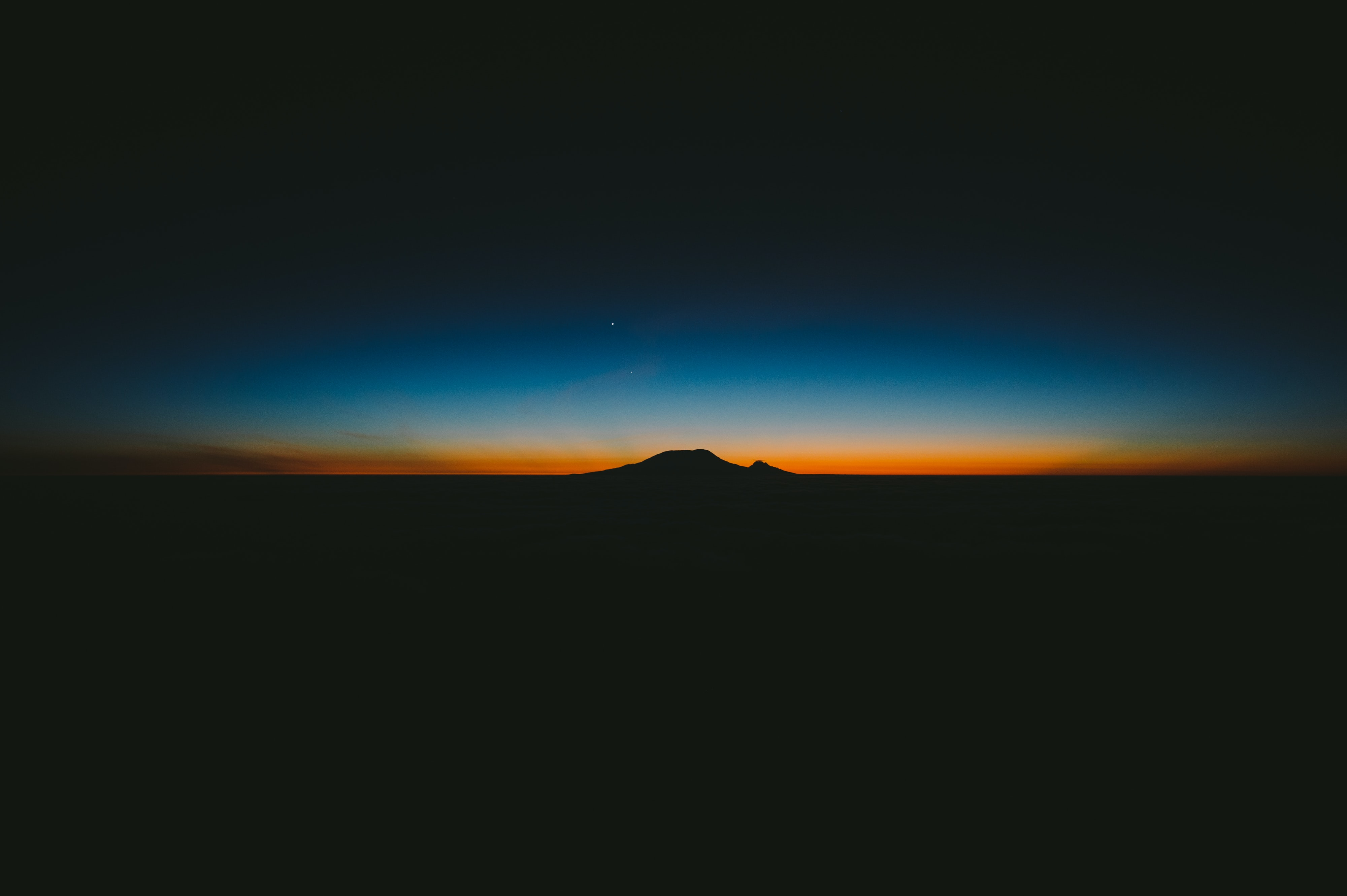 silhouette of mountain