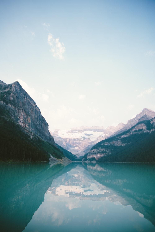 photo of two mountains