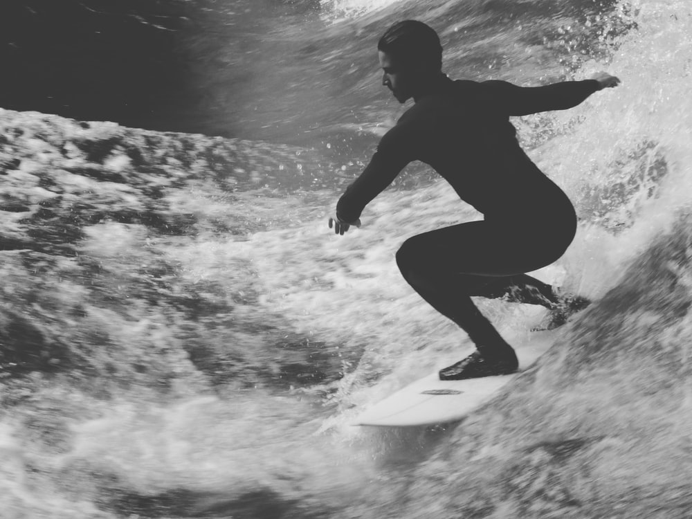 person surfing on seawave