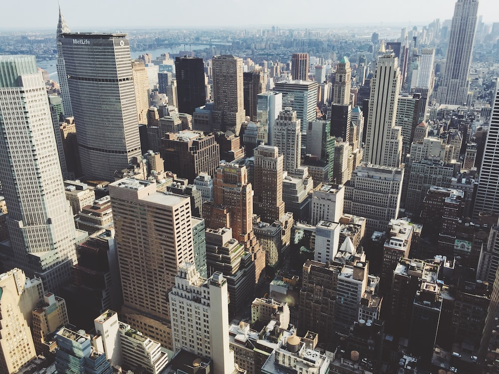 aerial view of city at daytime