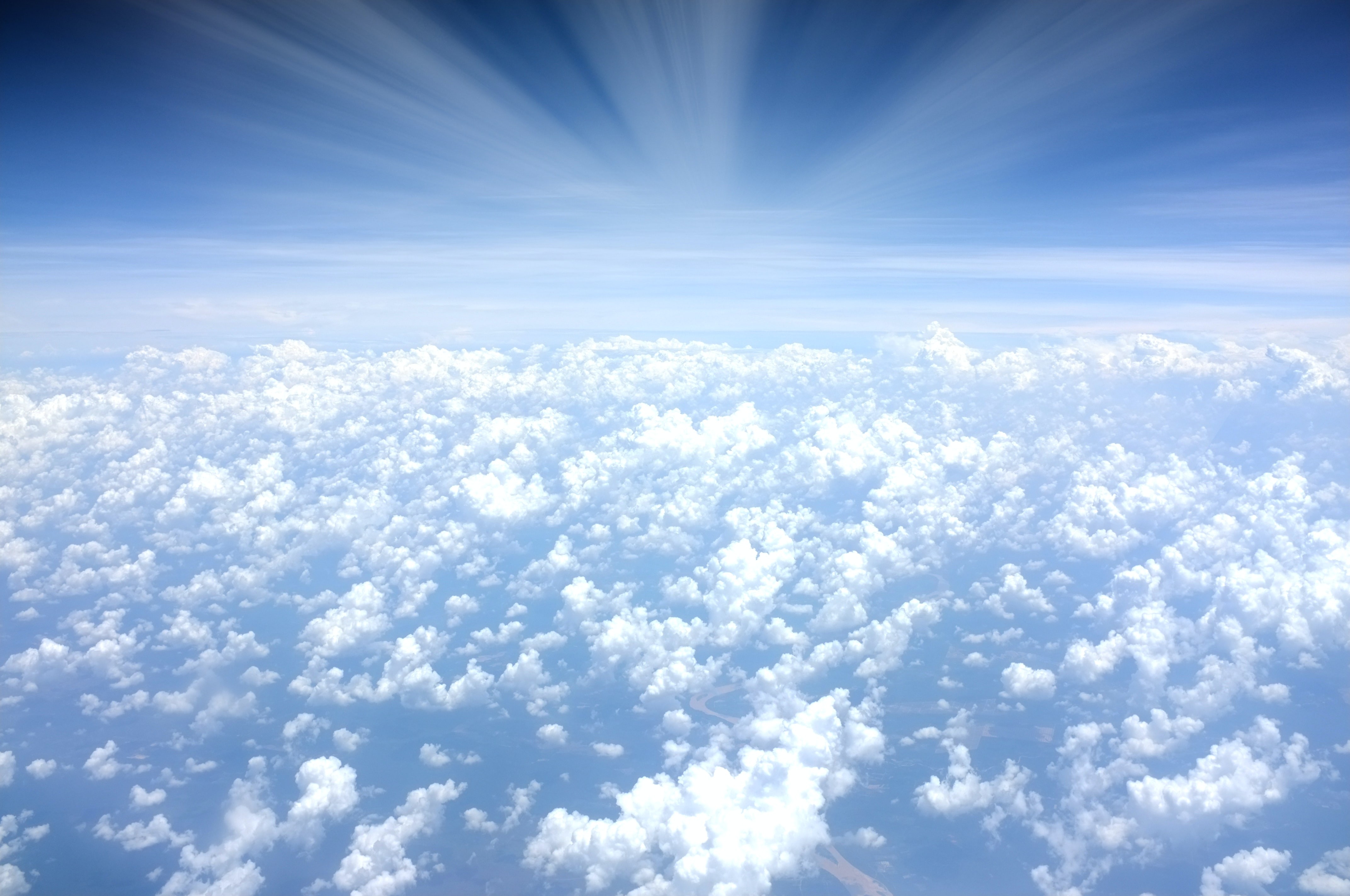 aerial photograph of clouds