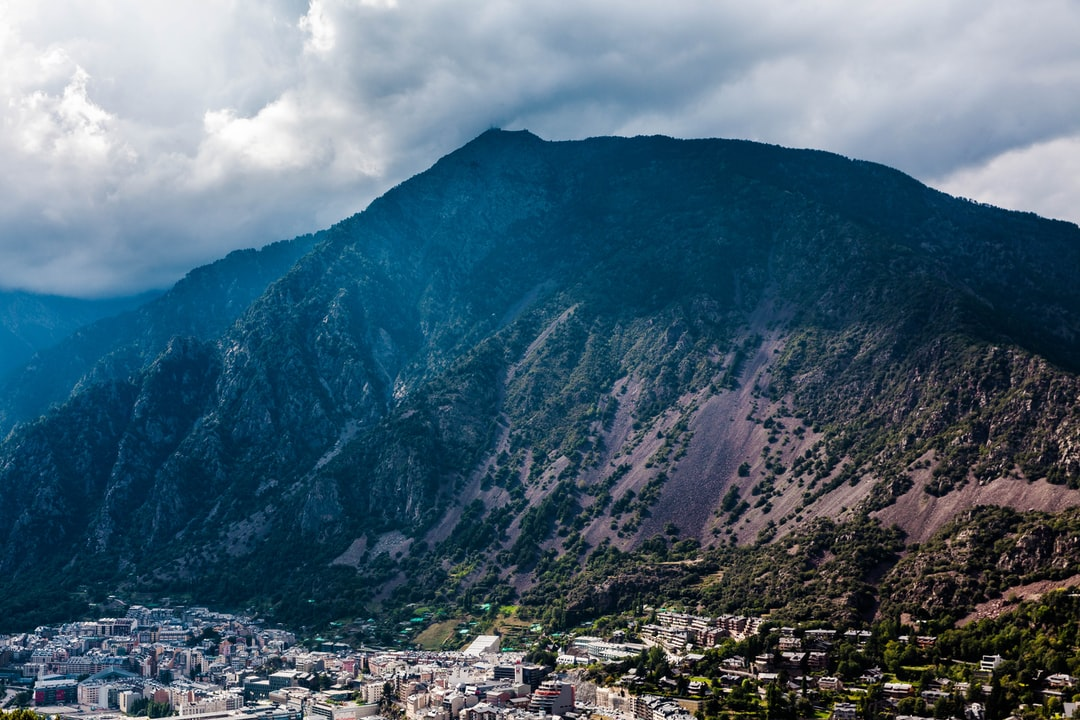 City near a mountain