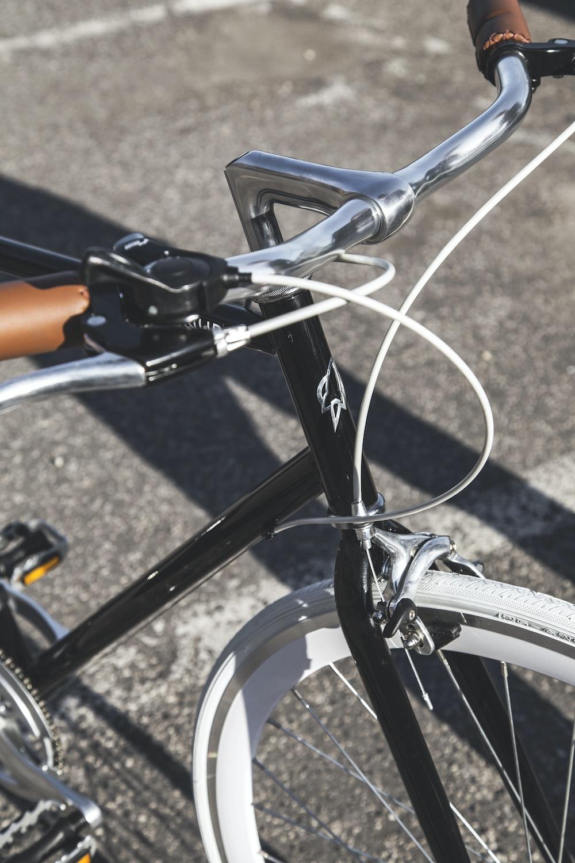 black and silver bike