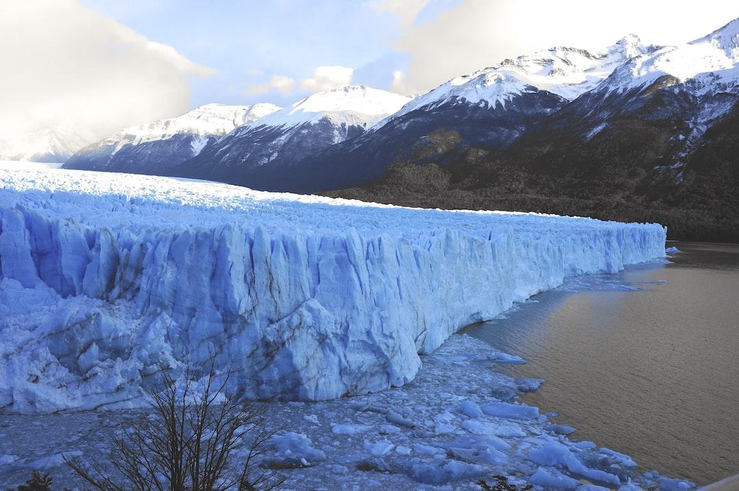 Glacier and lake