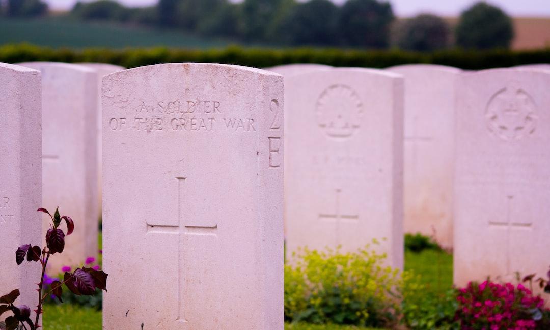white tombstones
