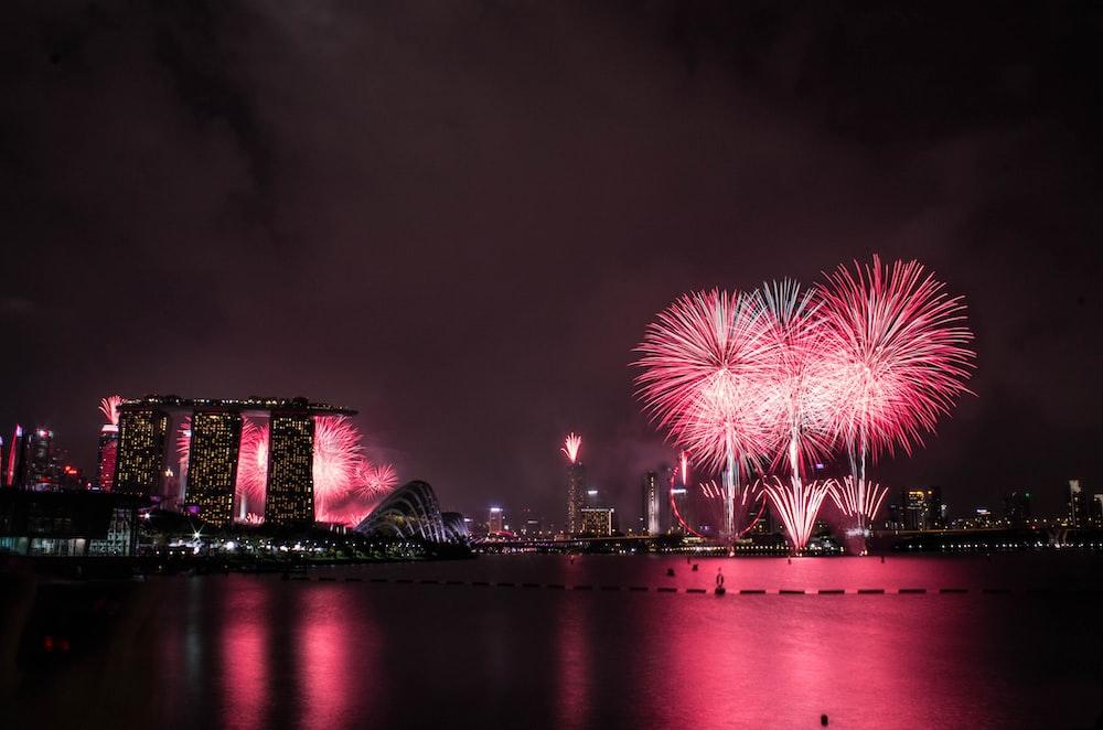 Marina Bay Sands, Singapore during nighttime