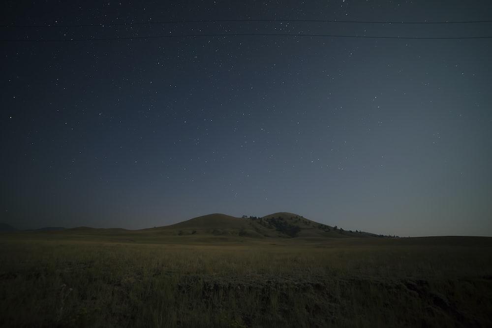 gray mountain at dawn