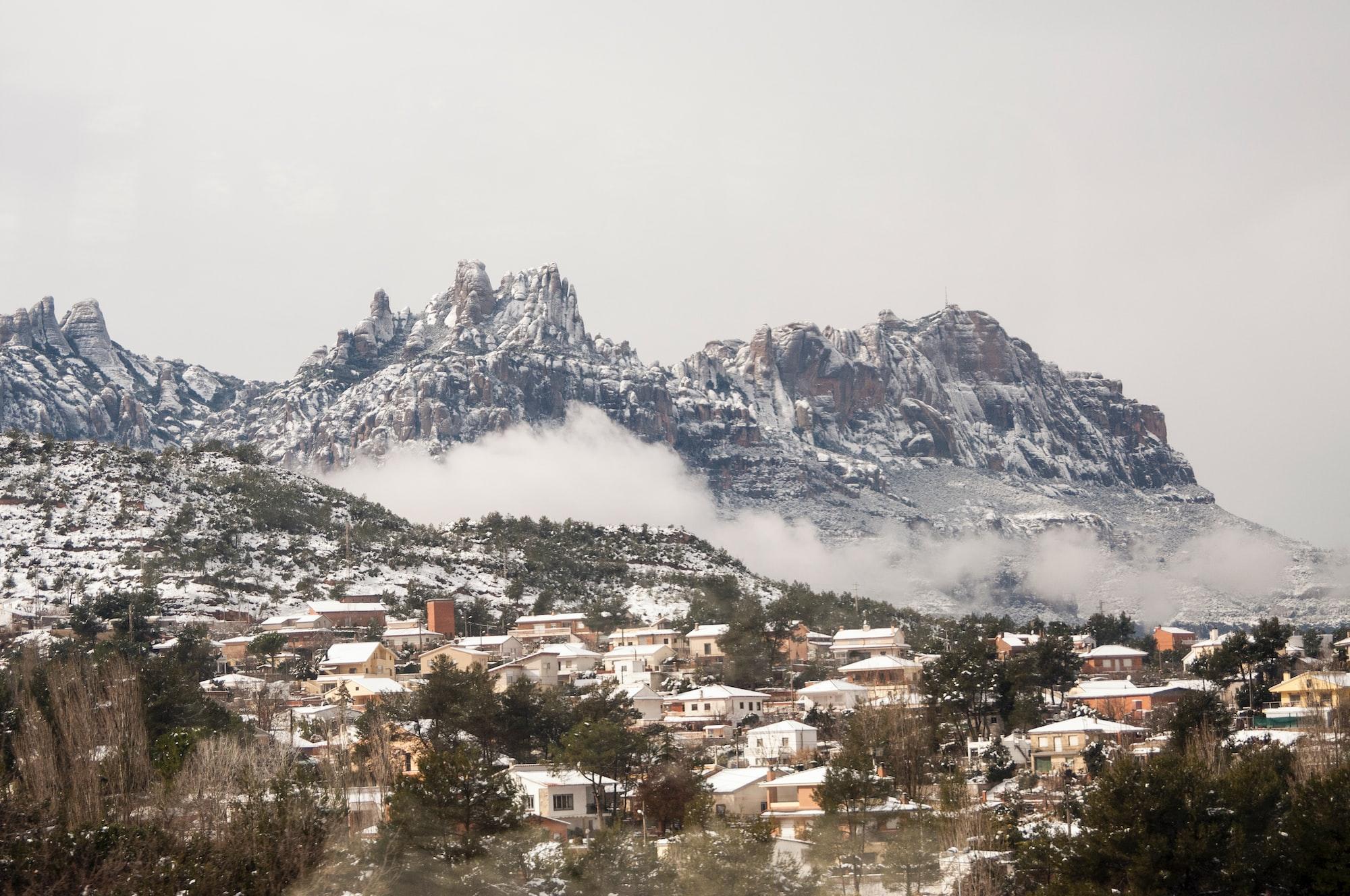 Mountainside village in Spain