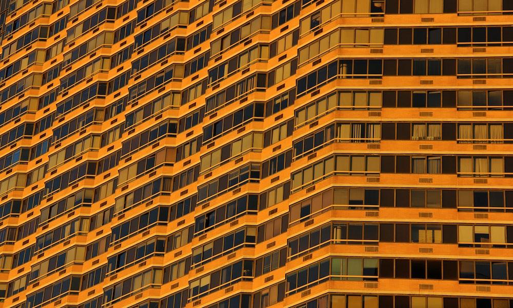 orange concrete building