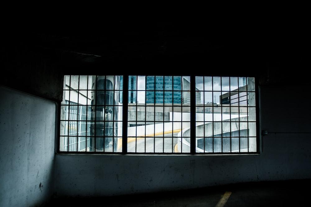 black window grille