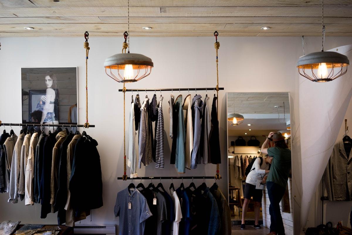 e-commerce vêtements, objets, matériaux