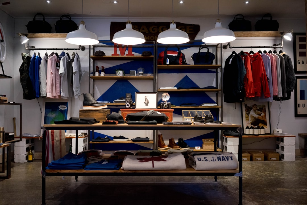 Trendy apparel store
