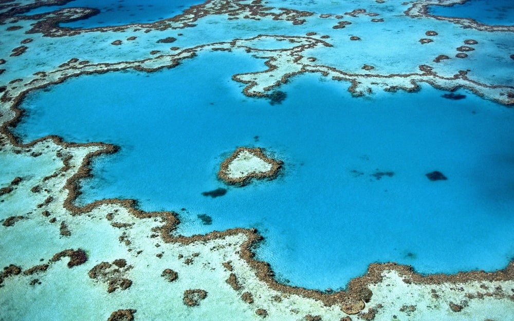 aerial photography of seawater