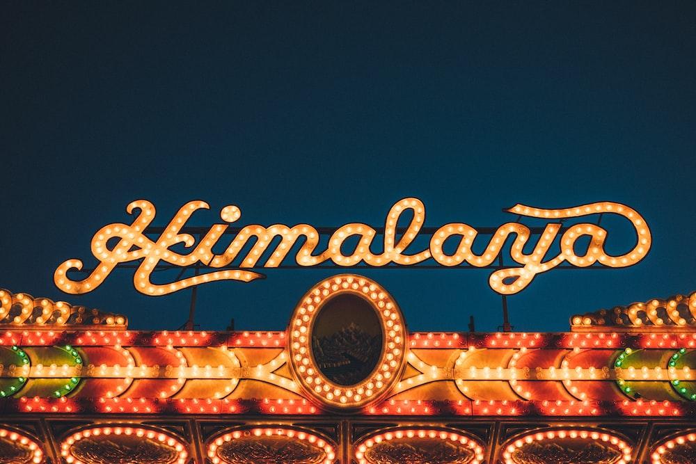 orange Himalaya LED signage