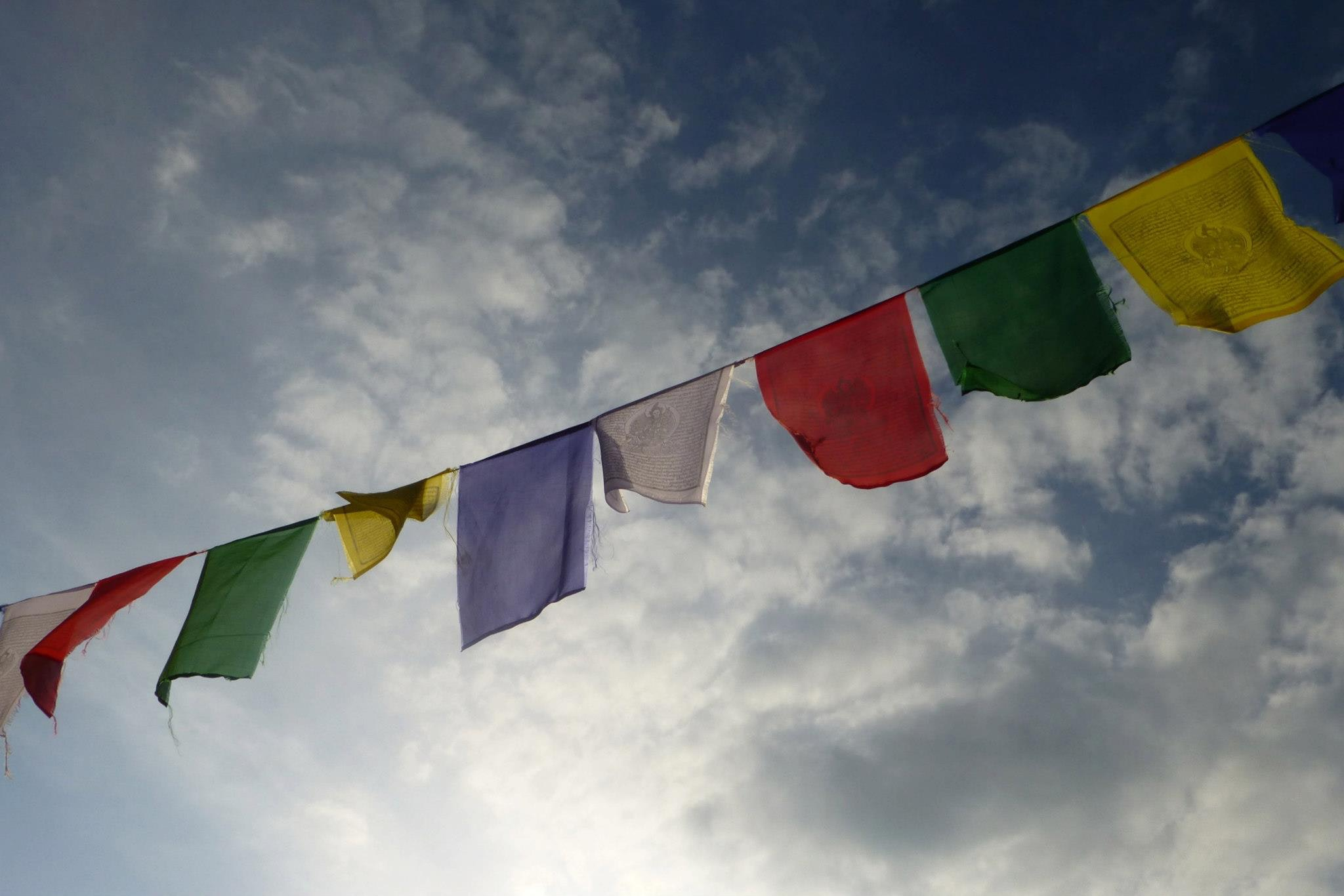 assorted-color bunting