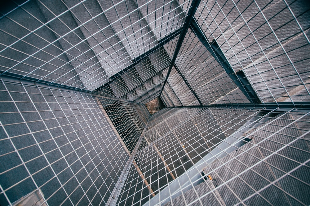 structural photography of stairs