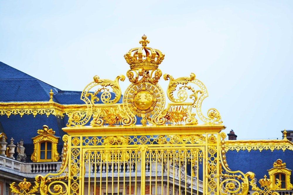 gold and blue castle