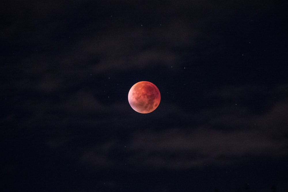 blood moon during night