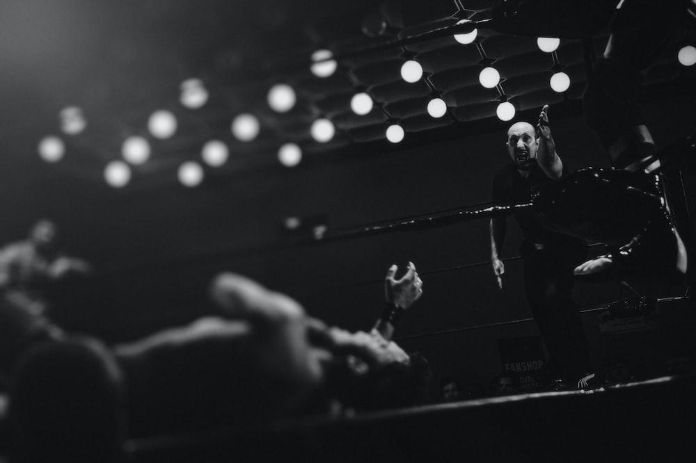 two men playing boxing