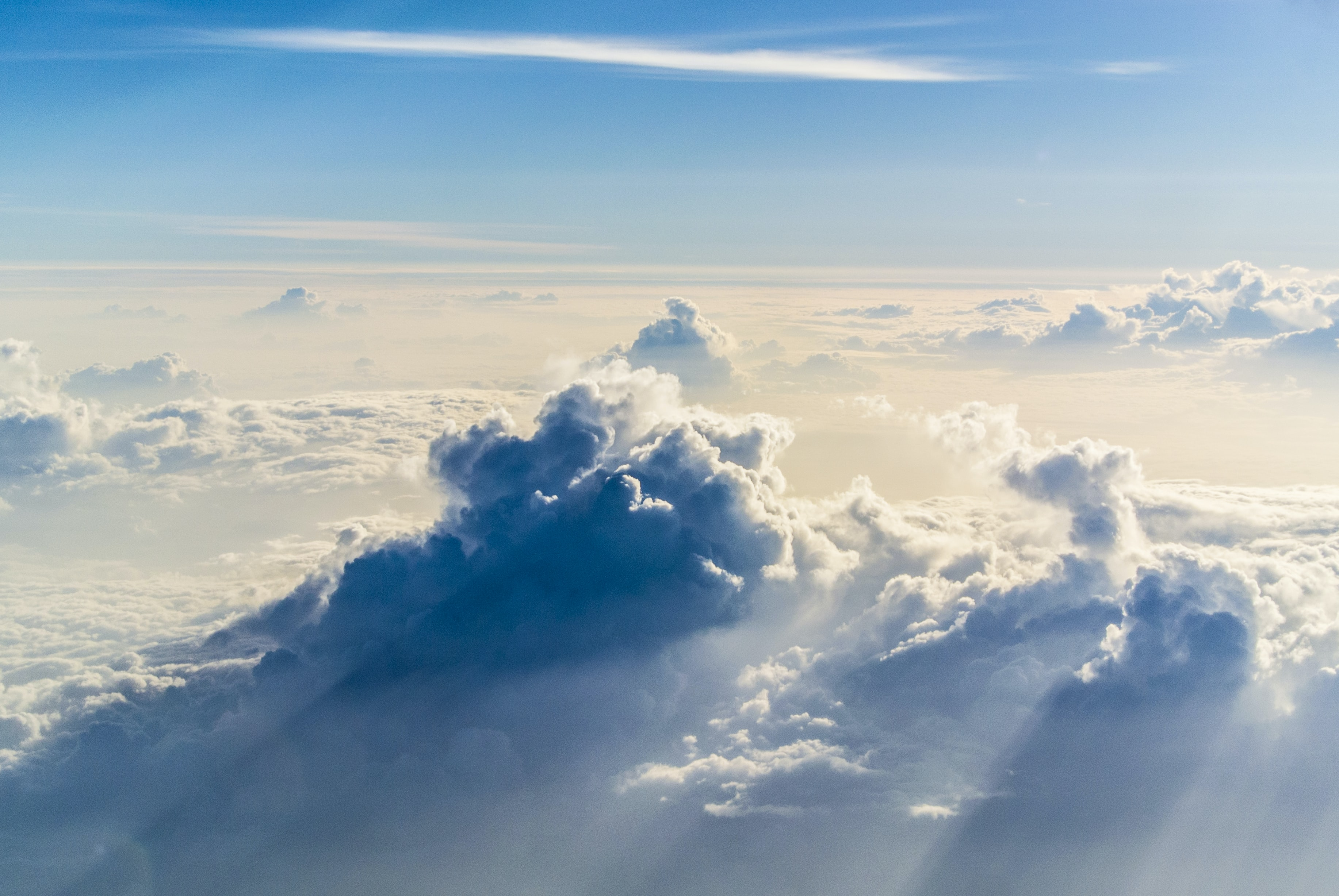 The aerial view of clouds in the stratosphere in goa