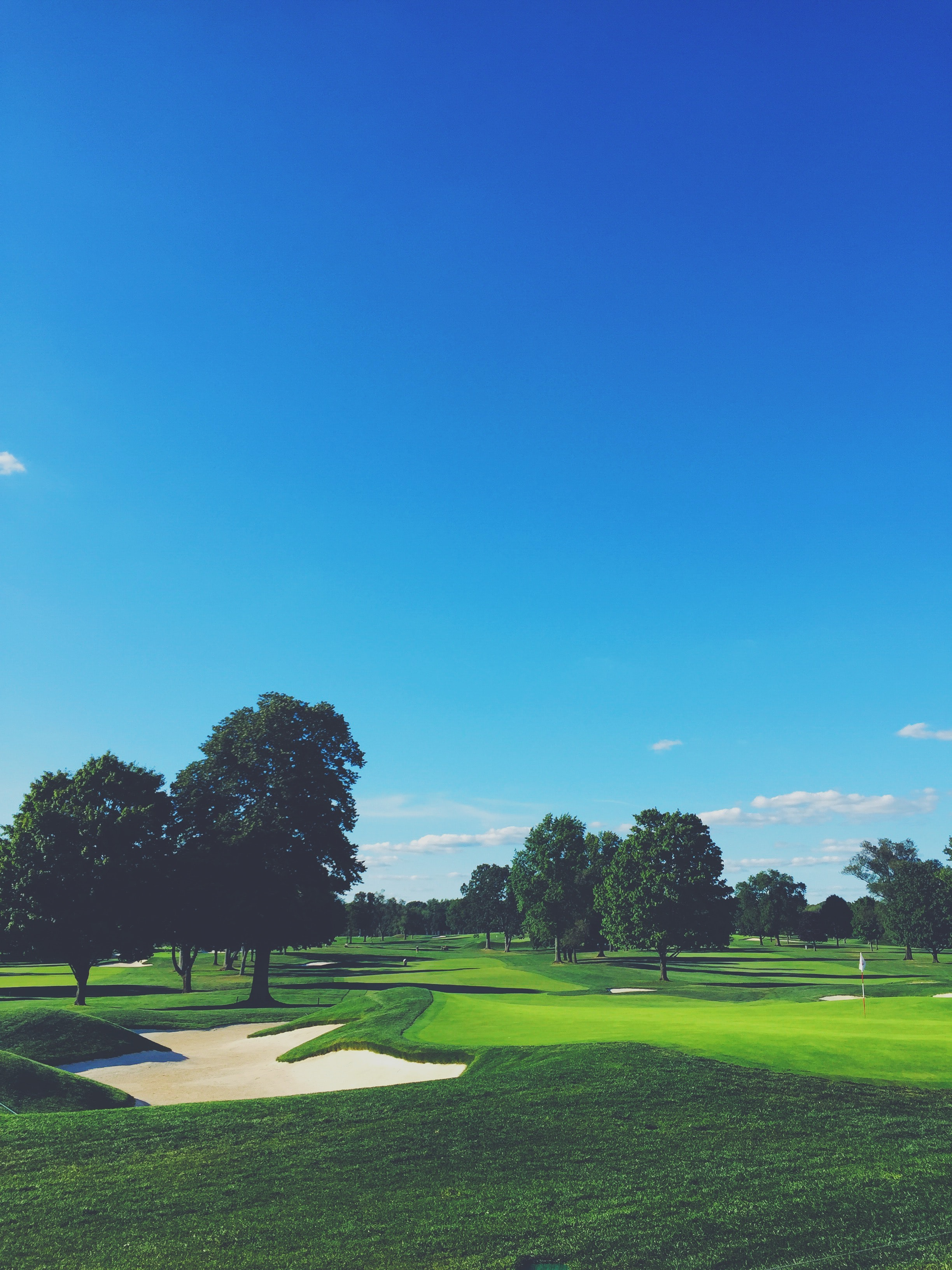 A shot from the grass at Winged Foot Golf Club