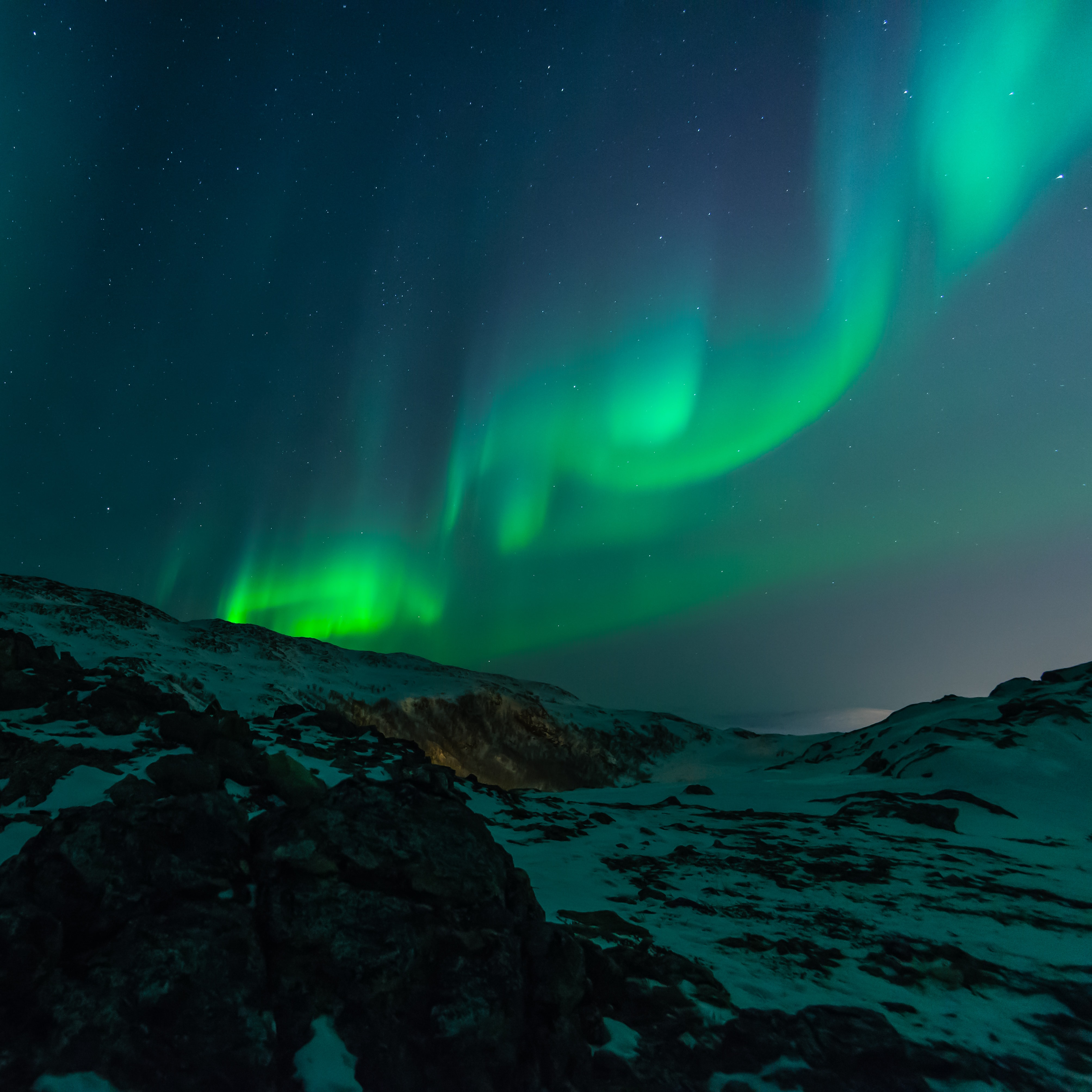 Northern lights during night time