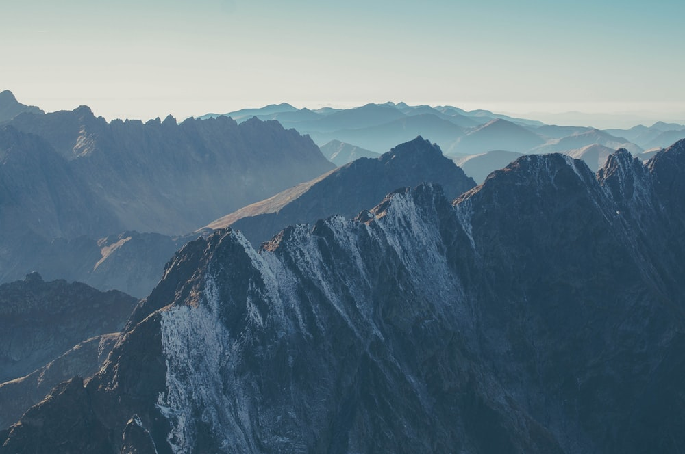 aerial photography of mountains during daytime