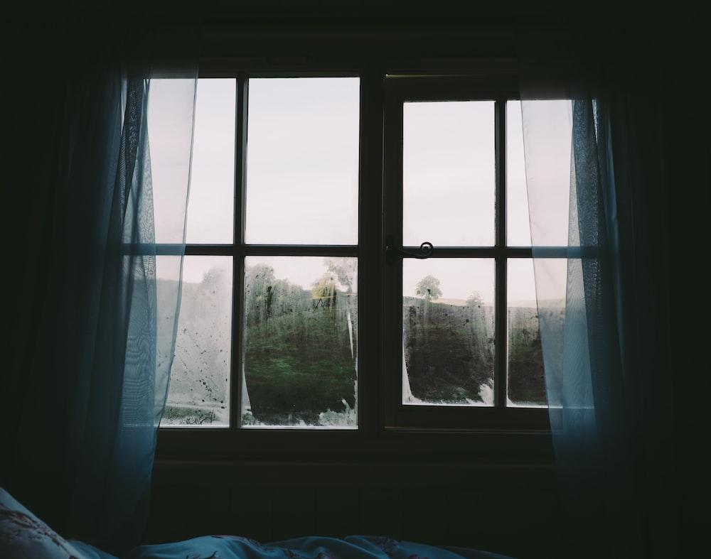 two closed pane windows