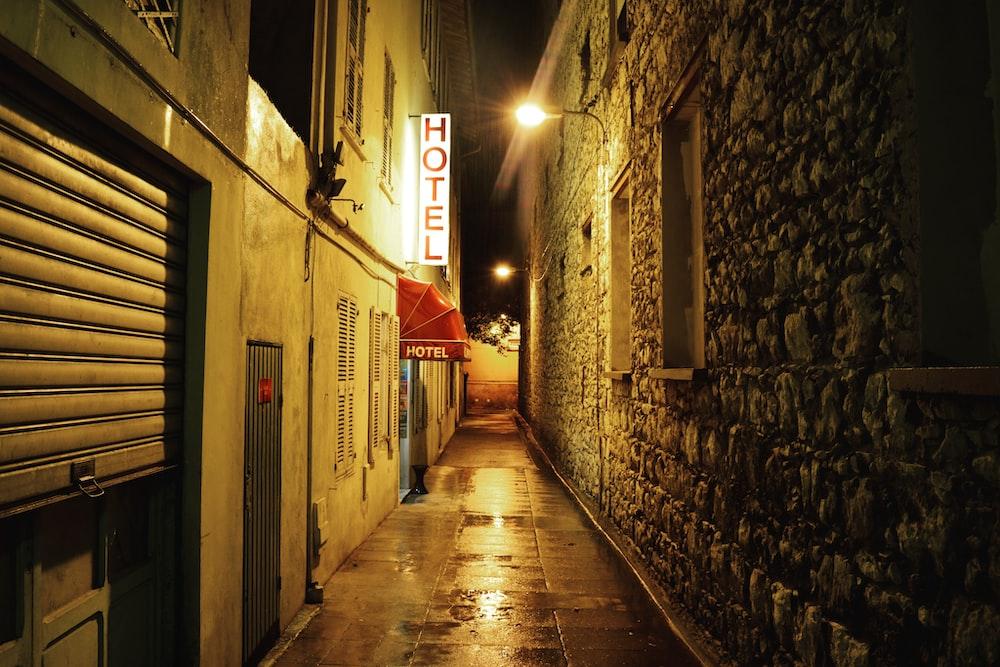 narrow road between buildings