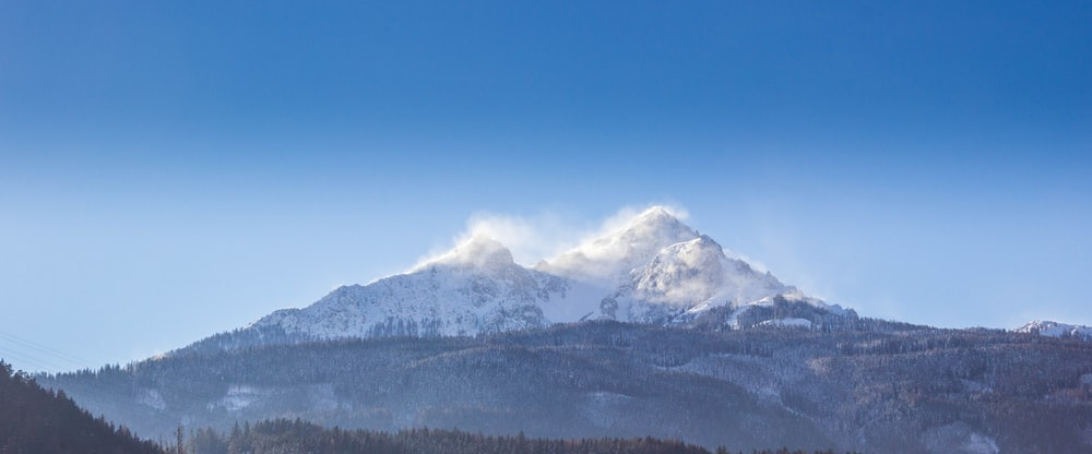 white and brown mountain under clear blue sky