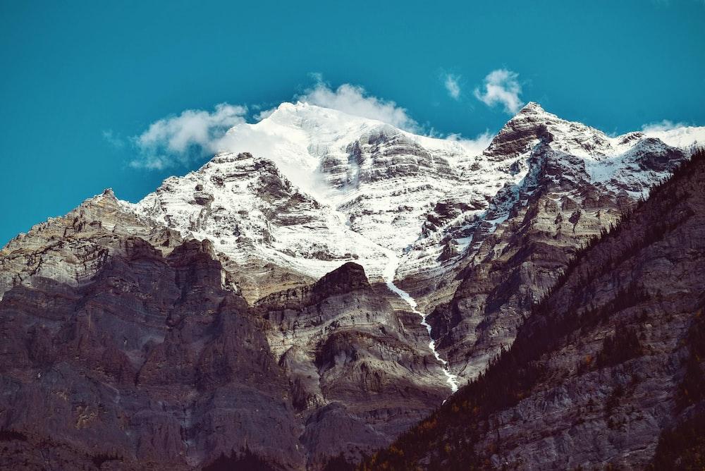 snow-filled mountain