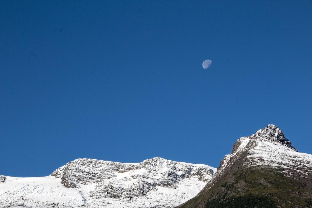 long angle photography of mountain range