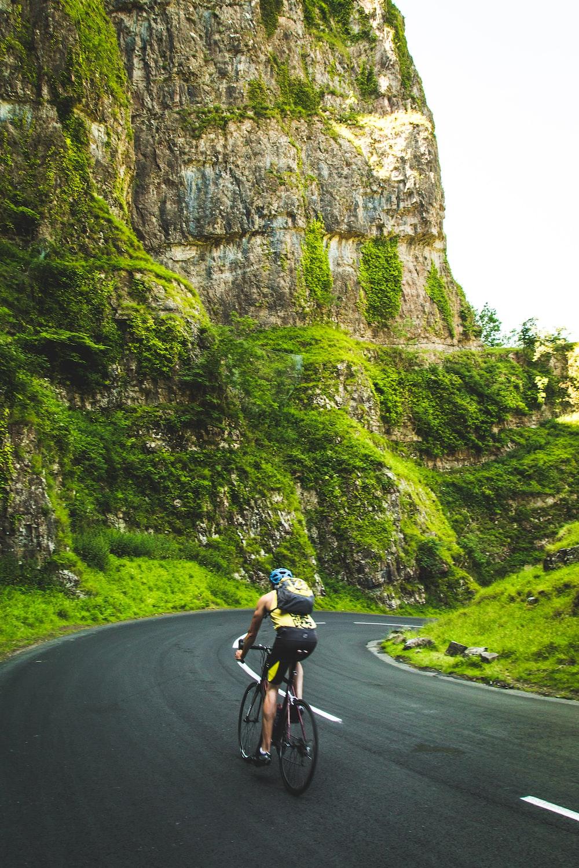 person riding a mountain bike