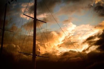 La Paz boat sunset.