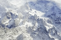 aerial photography of mountains covered with snow